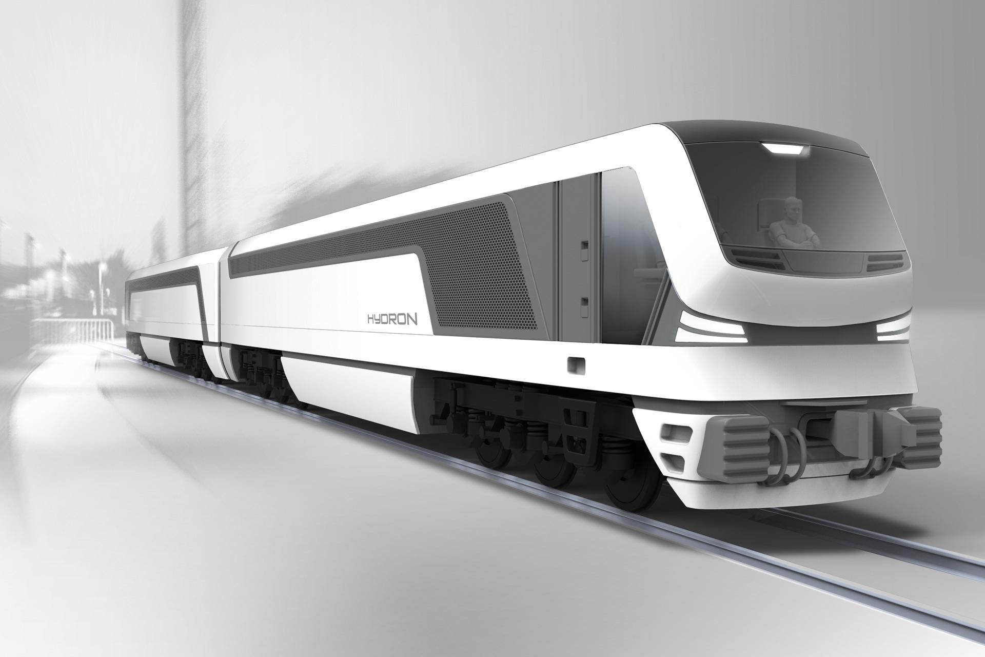 Hydron Designkonzept wasserstoffbetriebene Lokomotive 3