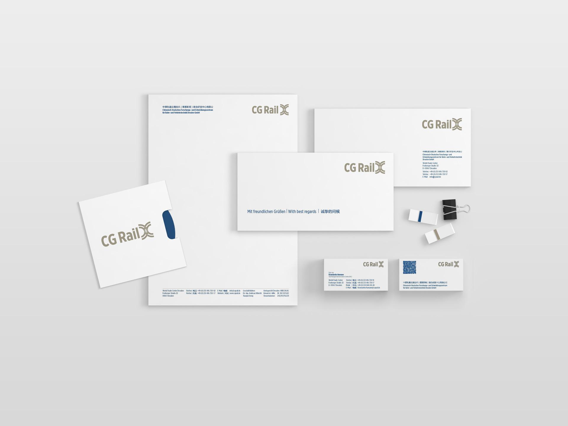 CG Rail GmbH Printmedien Design