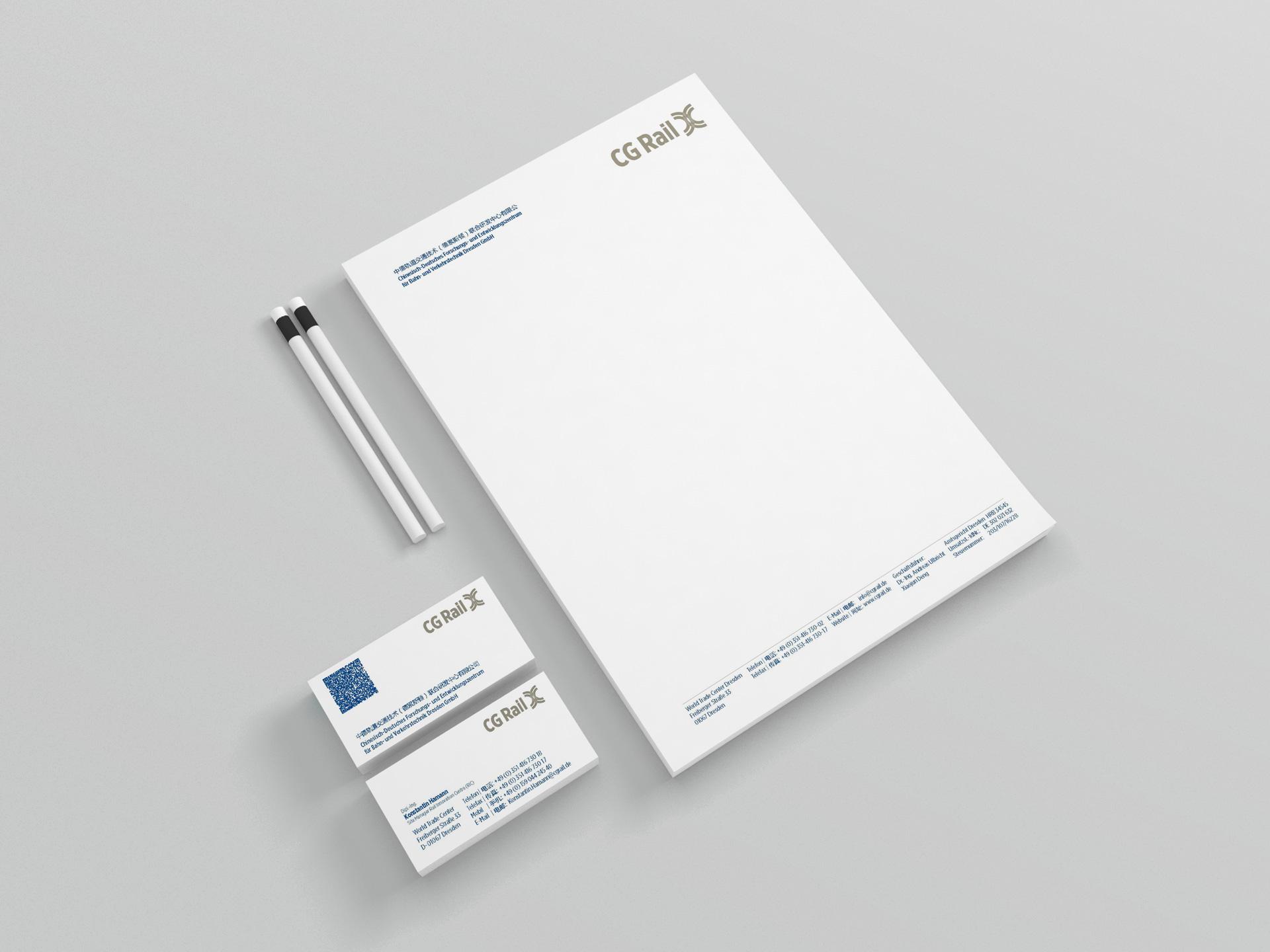 CG Rail GmbH Printmedien Design by facit design