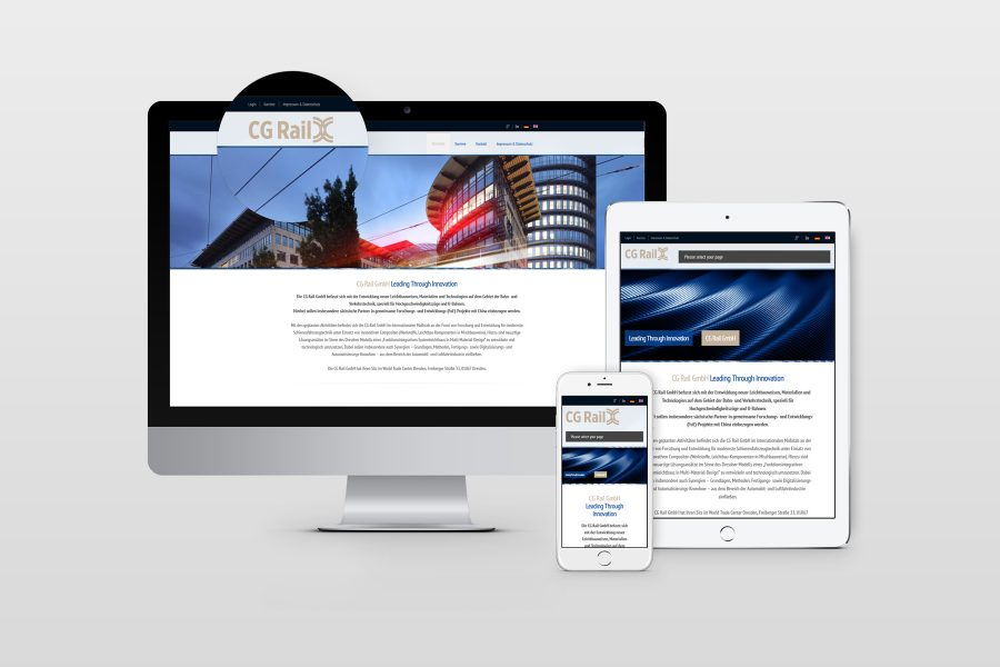 Corporate Design CG Rail GmbH by facit design