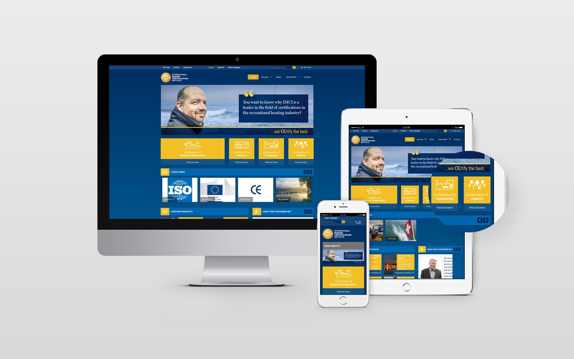 IMCI responsive Webdesign by facit design