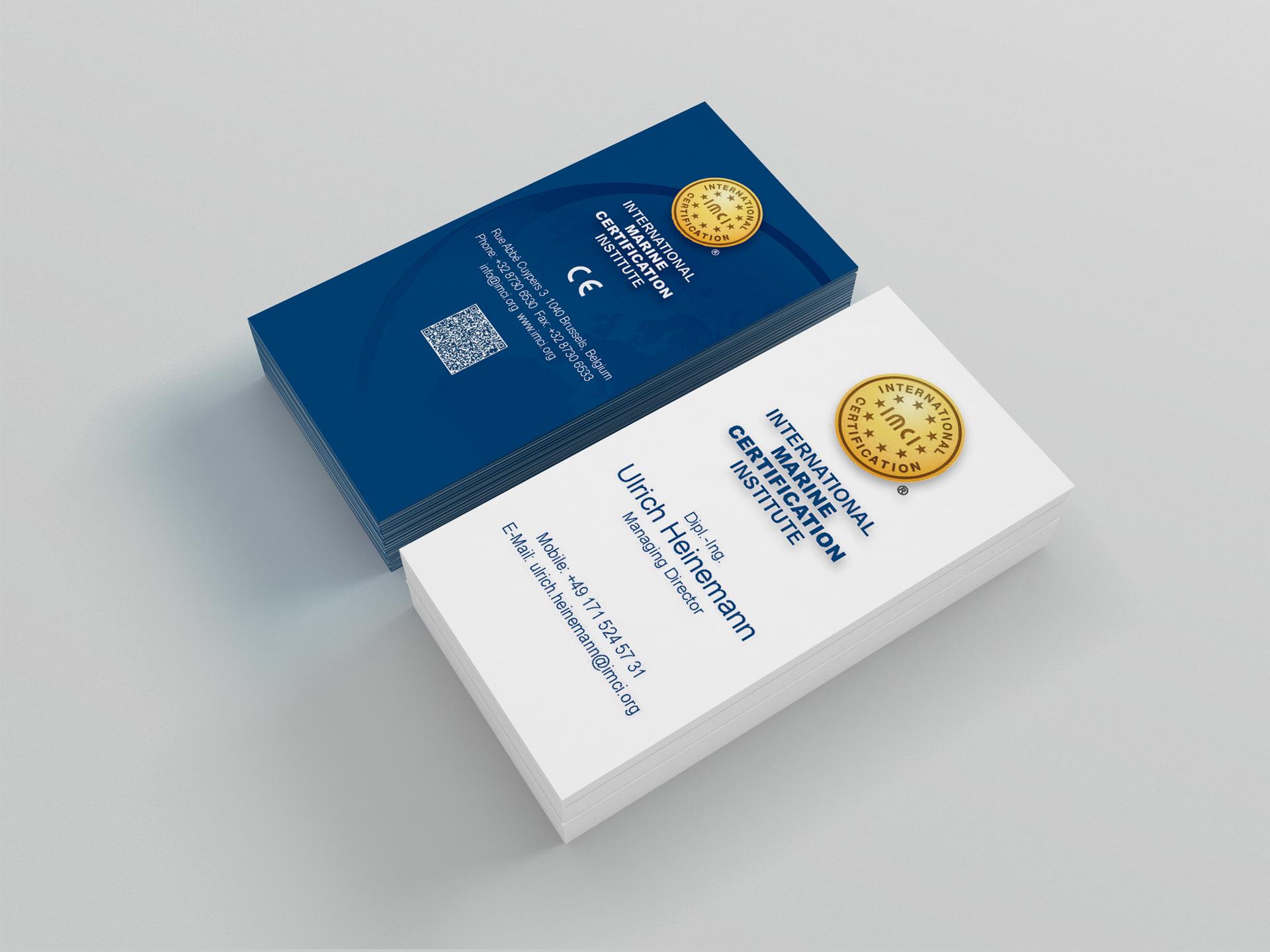 IMCI Visitenkarten Design by facit design
