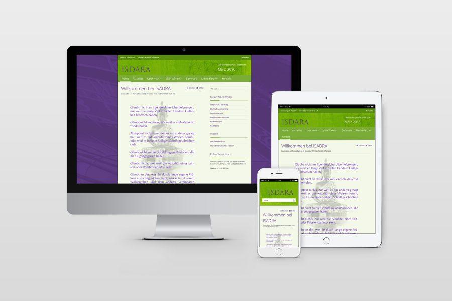 Web Dsign für ISDARA von facit design