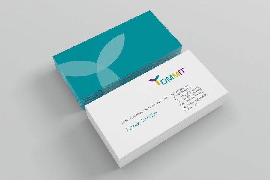 ommit GmbH Design Visitenkarten von facit design