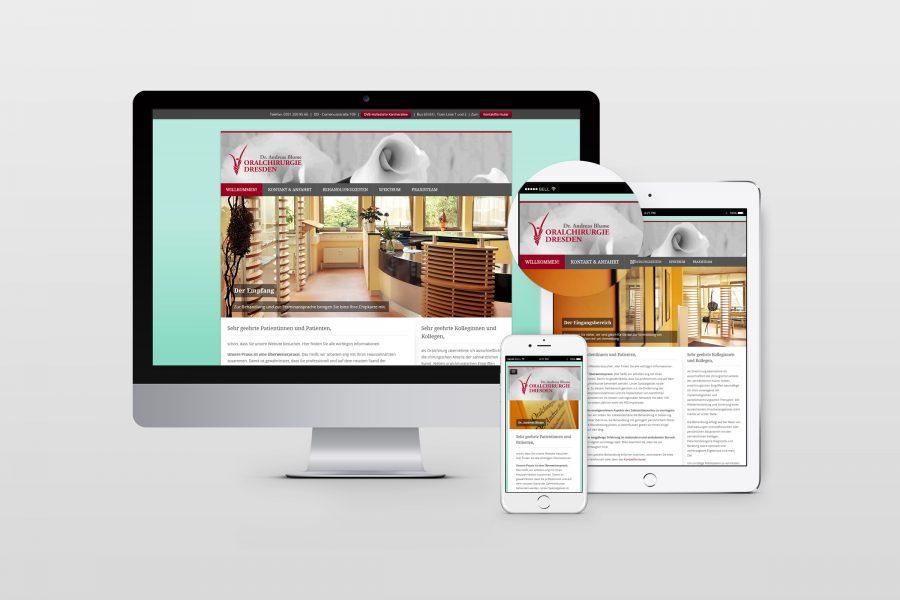 Webdesign Oralchirurgie Dresden von facit design