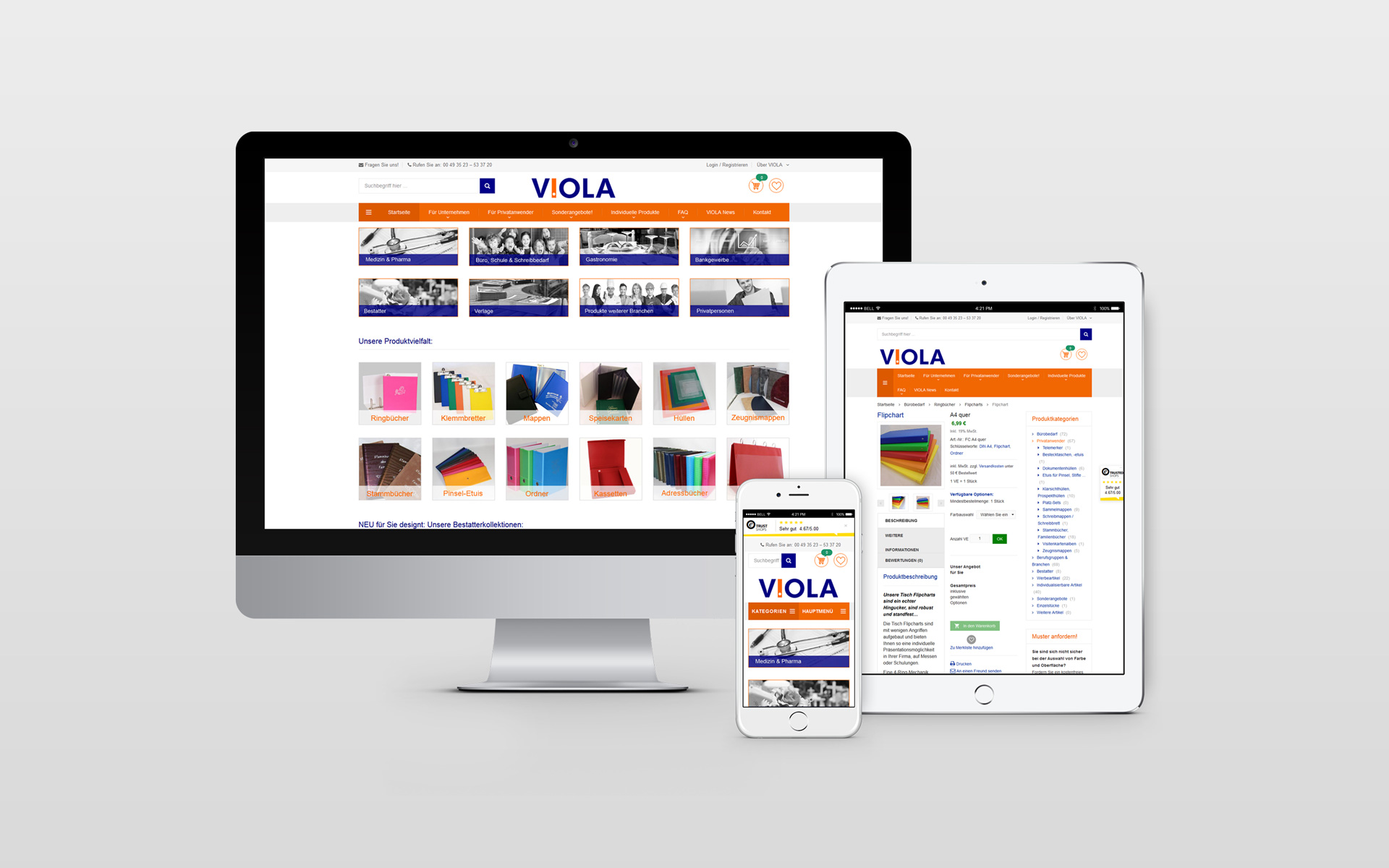 Webshop Design Viola World von facit design
