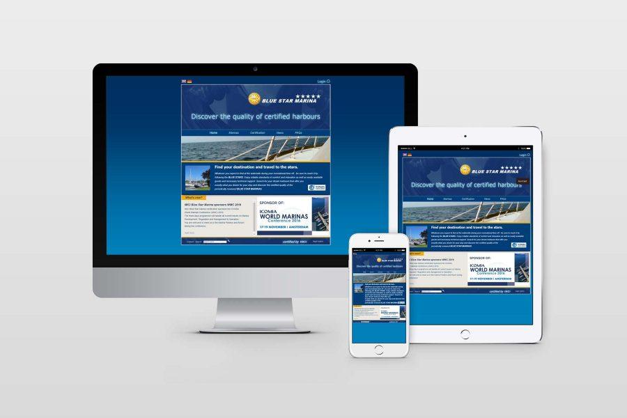 Screendesign bluestar marina by facit design
