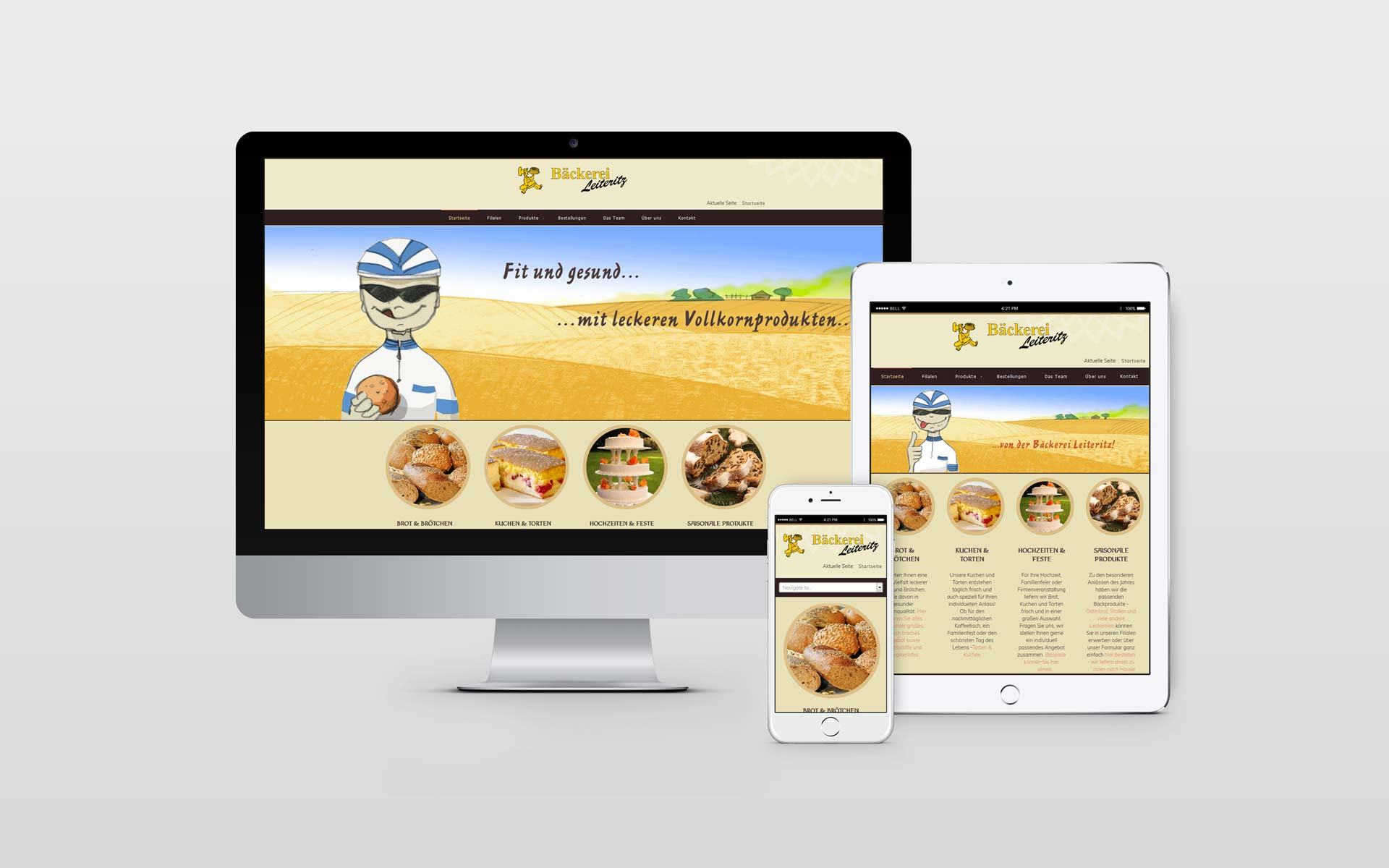 Webdesign Bäckerei Leiteritz by facit design