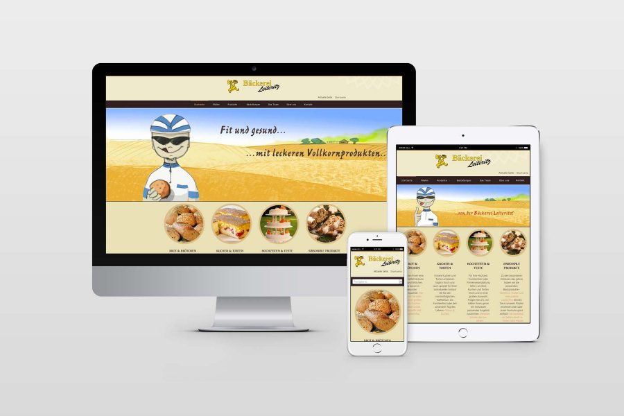 Webdesign Bäckerei by facit design