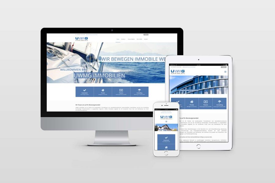 Webdesign UWMG Immobilien by facit design