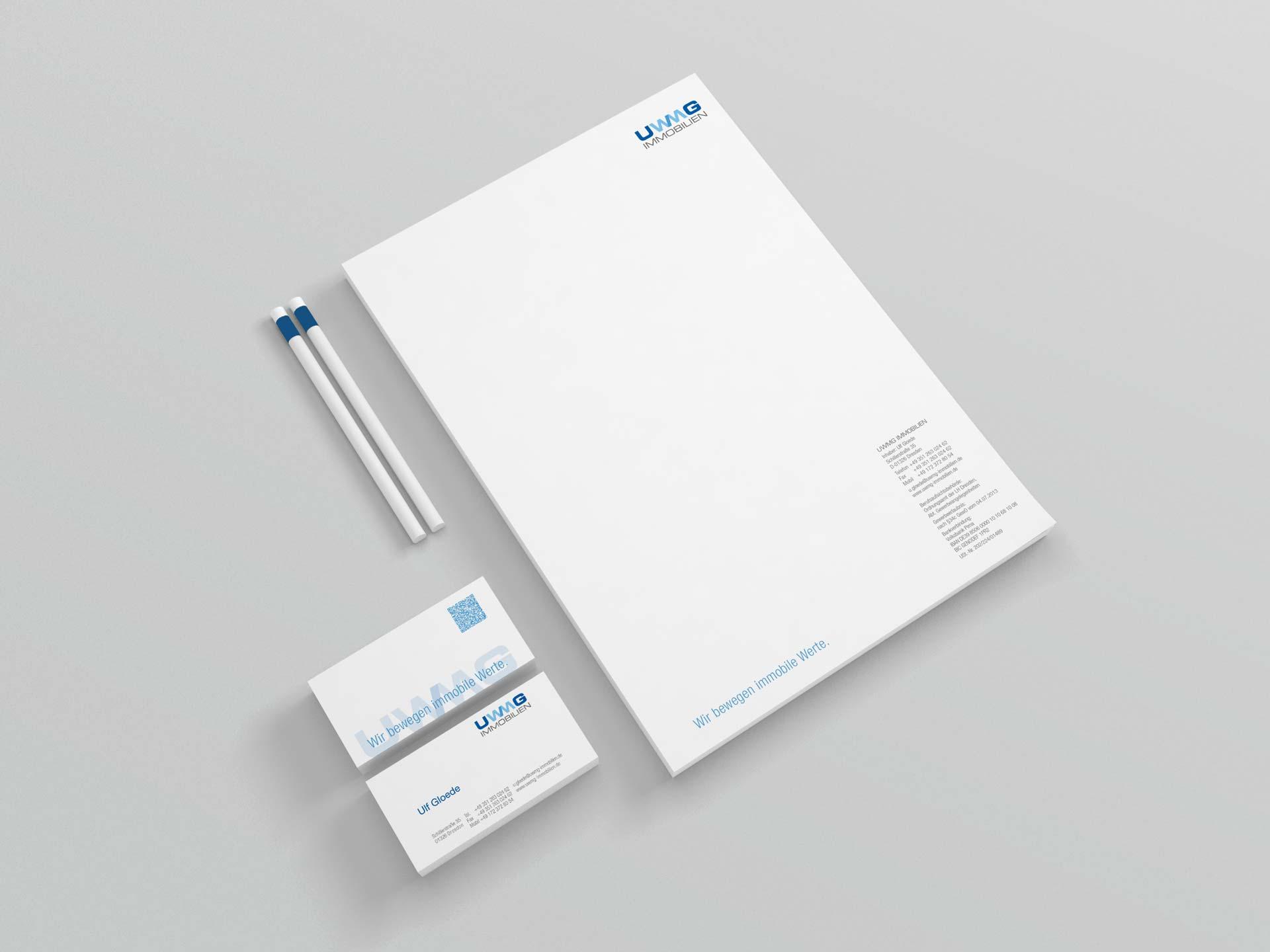 Design Geschäftsausstattung UWMG Immobilien by facit design