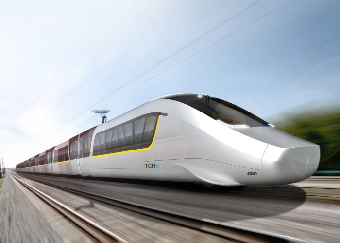 TCHx - Hochgeschwindigkeits Zug Exterior Design in Organoblech Bauweise