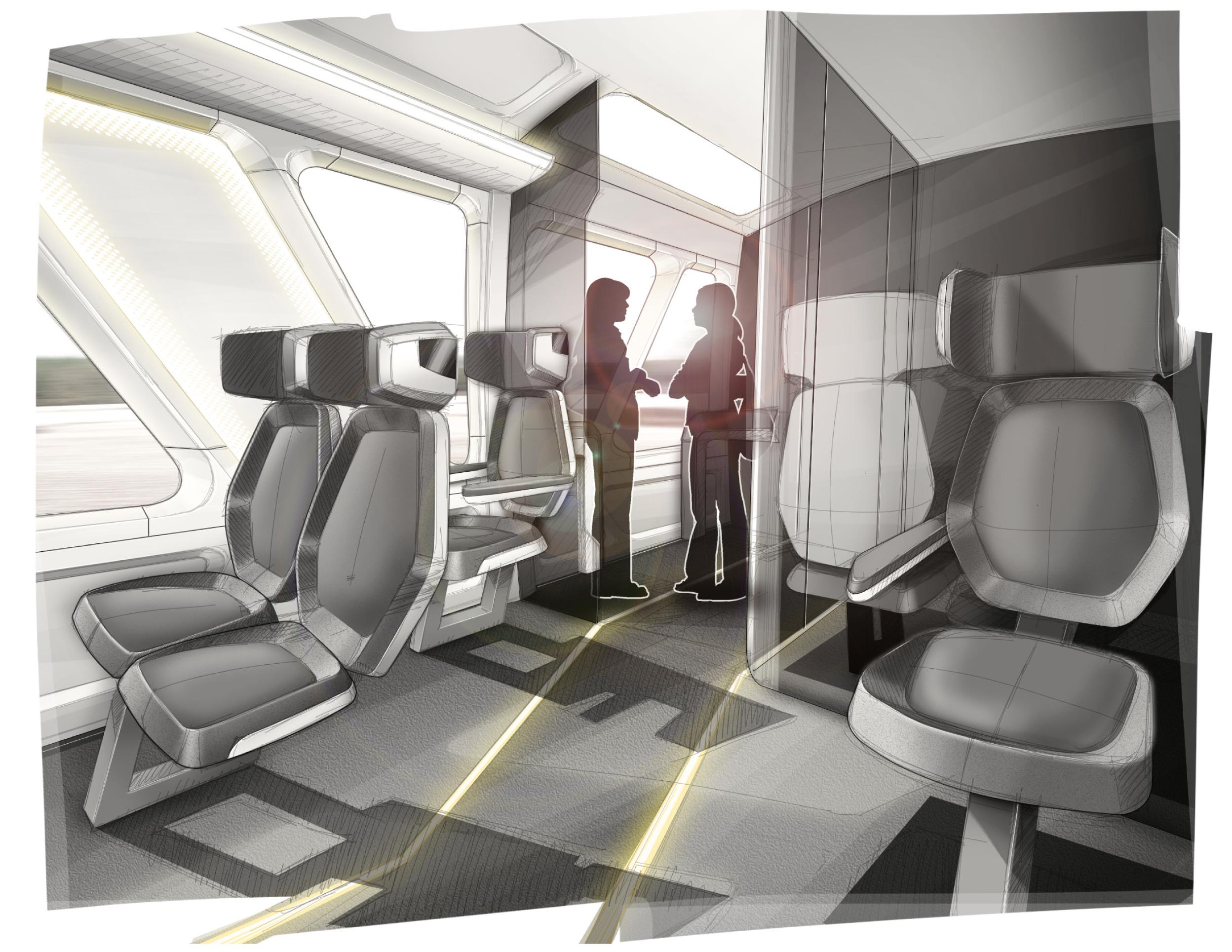 TCHx - Hochgeschwindigkeits Zug Interior Design in Organoblech Bauweise